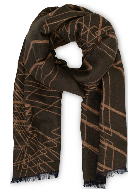 ZZEGNA ZZ ALL OVER LOGO WOOL AND MODAL SCARF image number 0