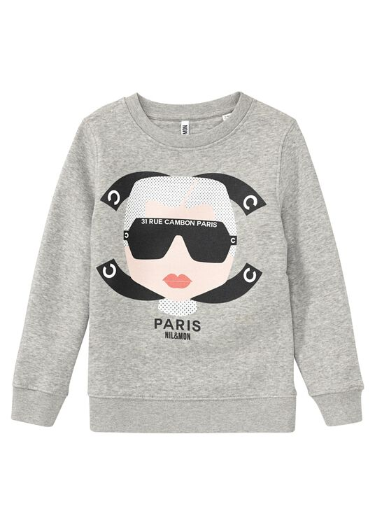 Little Cambon Cosy Sweatshirt, Grau, large image number 0