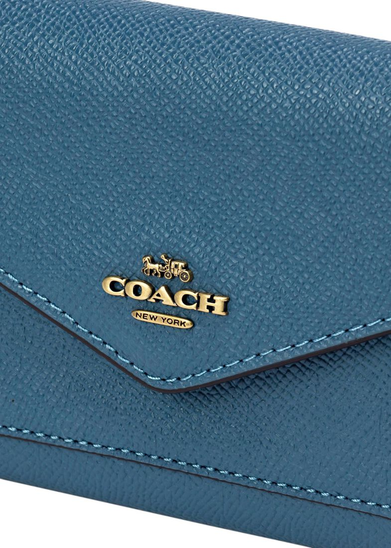 crossgrain leather small wallet, Blau, large image number 2