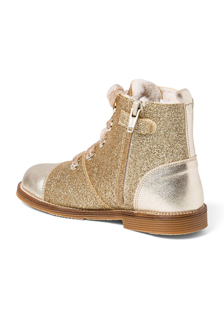 Wool Lines Glitter Boot, Gold, large image number 2