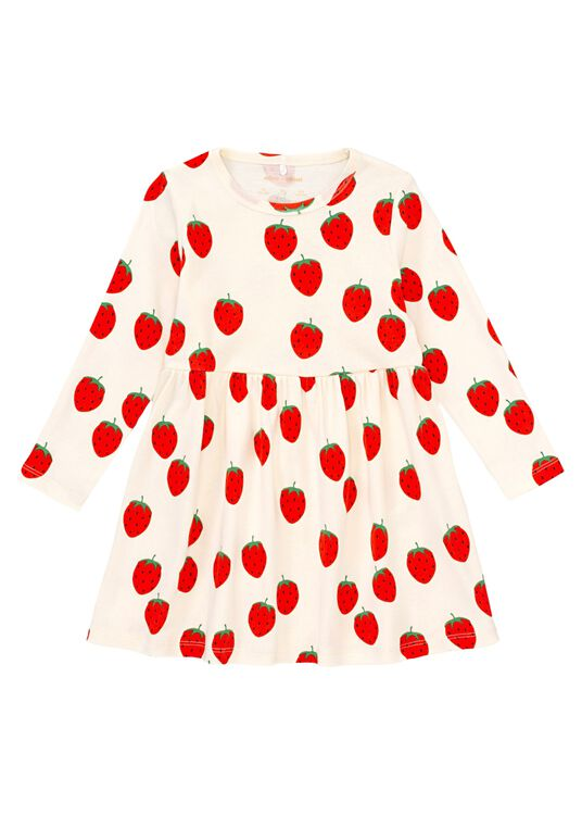 Strawberry aop ls dress image number 0