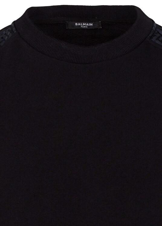 MIXED FLEECE & MONOGRAM NYLON SWEATSHIRT image number 2