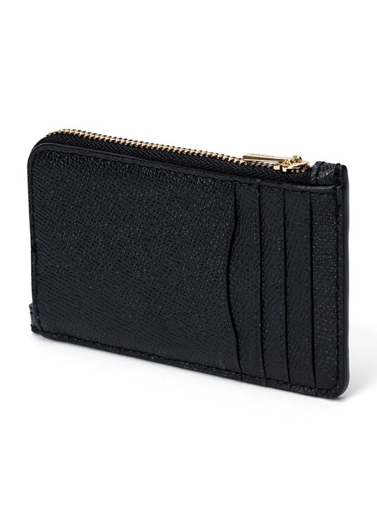 small l zip card case, Schwarz, large image number 1