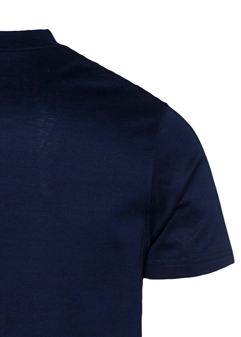 MEN'S KNITTED T-SHIRT C.W. COTTON, Blau, large image number 3