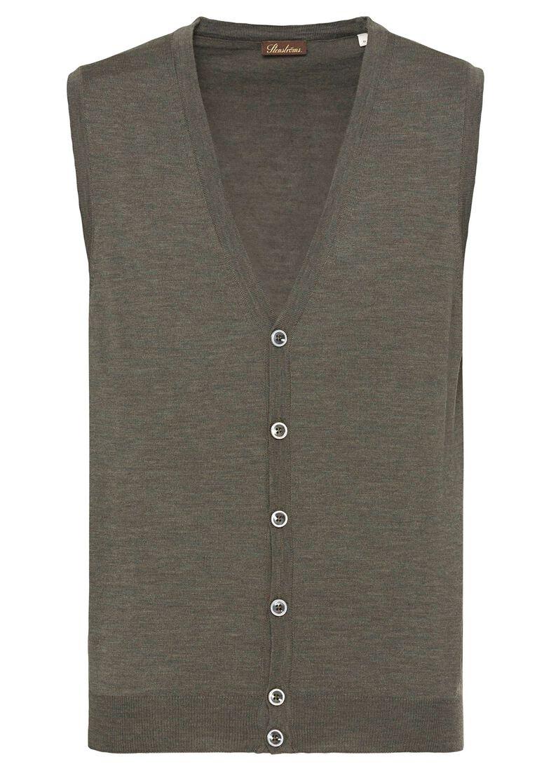 Vest, Merino wool, Grün, large image number 0