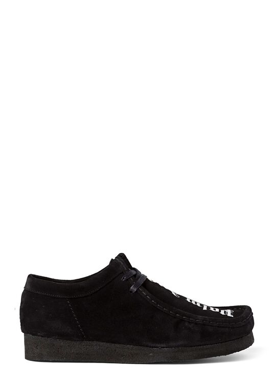 WALLABEE SUEDE  BLACK WHITE image number 0