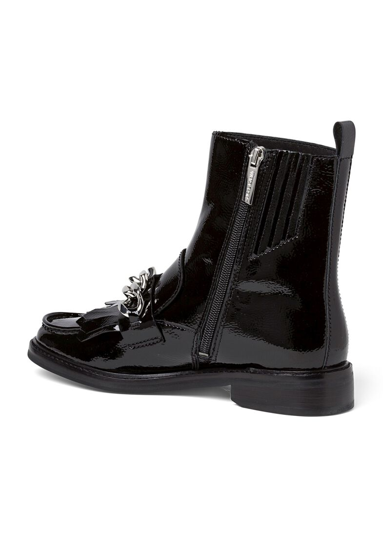 4_Fran Chain Flat Boot Patent, Schwarz, large image number 2
