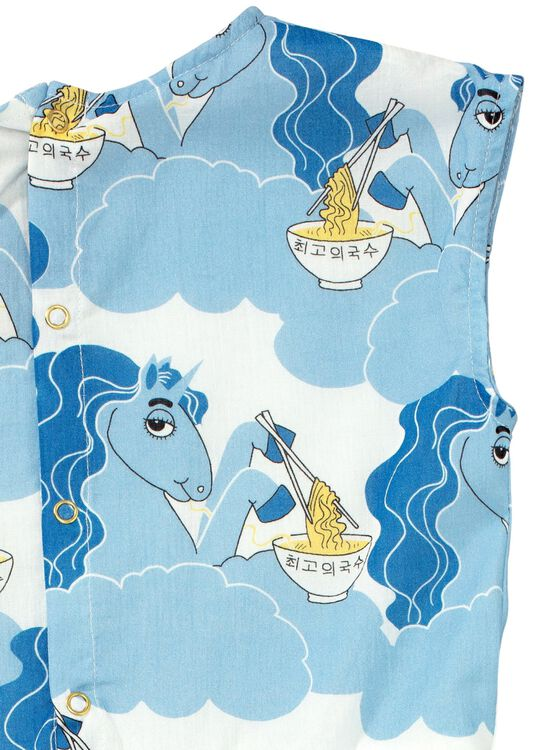 Unicorn noodles woven long dress image number 3