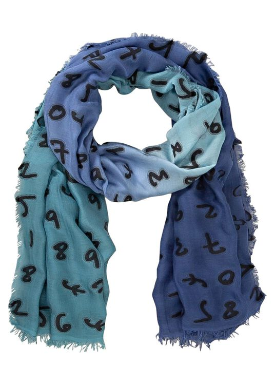 MEN SCARF NUMBERS, Blau, large image number 0
