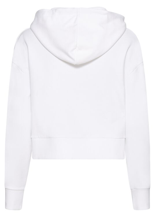 CROPPED STRASS LOGO HOODIE image number 1