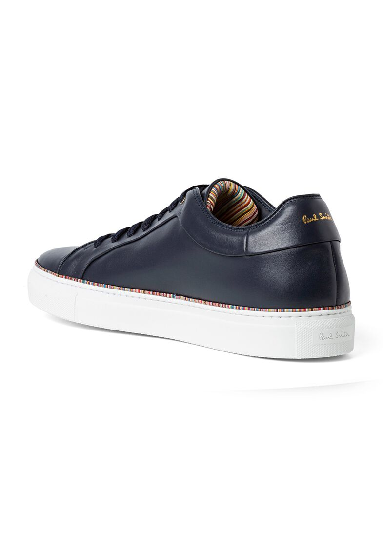 MENS SHOE BASSO DARK NAVY MULTI PIPING, Blau, large image number 2