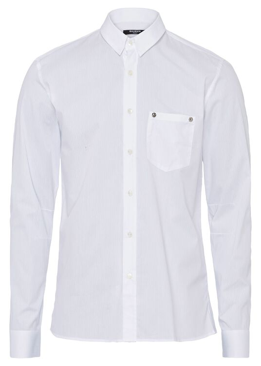 STRIPED COTTON SHIRT image number 0