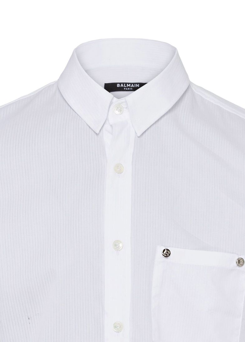 STRIPED COTTON SHIRT, Weiß, large image number 2