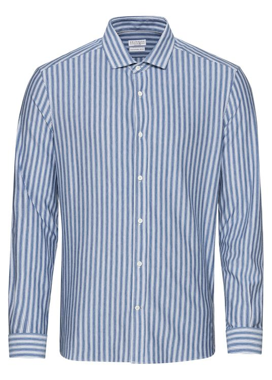 Cotton Jersey Striped Shirt image number 0