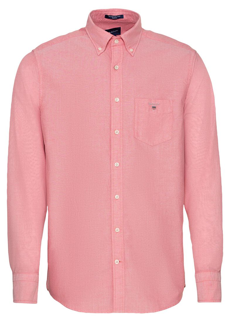 REG OXFORD SHIRT BD, Rosa, large image number 0