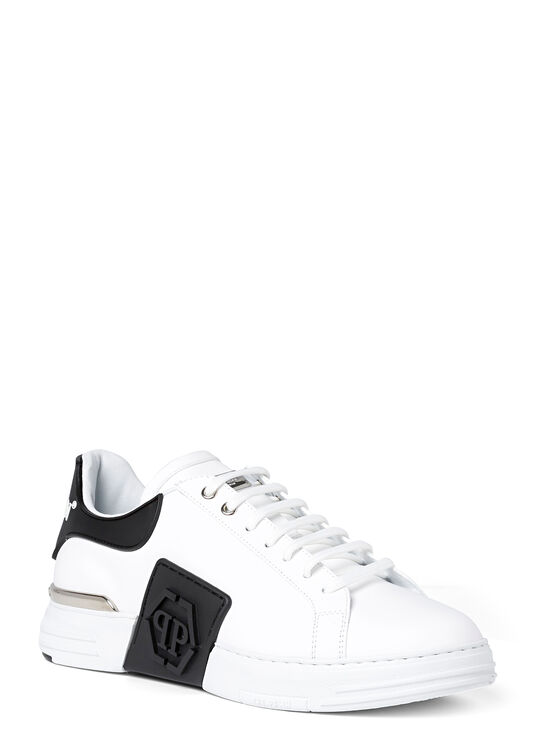 Rubber Leather PHANTOM KICK$ Lo-Top Sneakers Iconic Plein image number 1