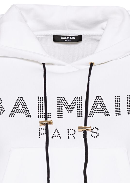 CROPPED STRASS LOGO HOODIE image number 2