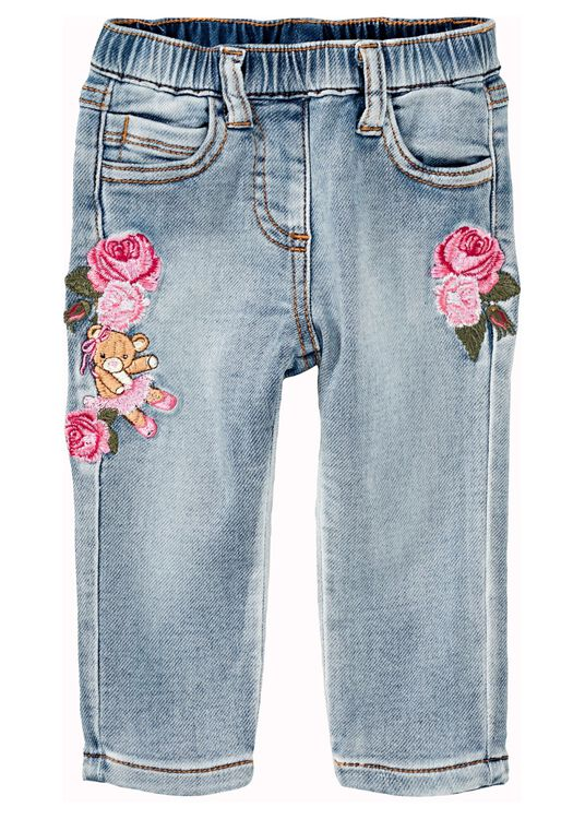 Teddy Patched Jeans, Blau, large image number 0