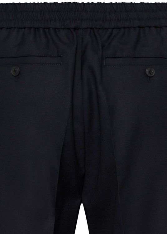 ELASTICIZED WAIST CROPPD FIT TROUSERS image number 3