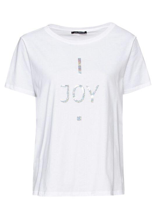 T-Shirt mit Wording-Print image number 0