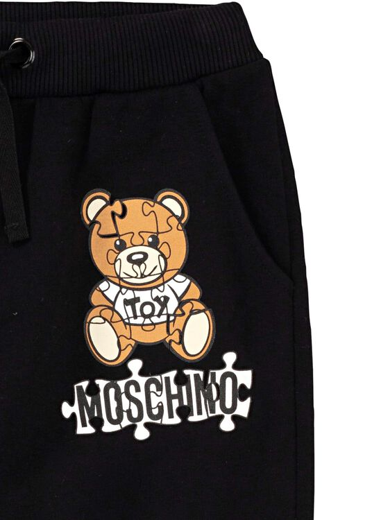 Teddy Puzzle Sweat Pants, Schwarz, large image number 2