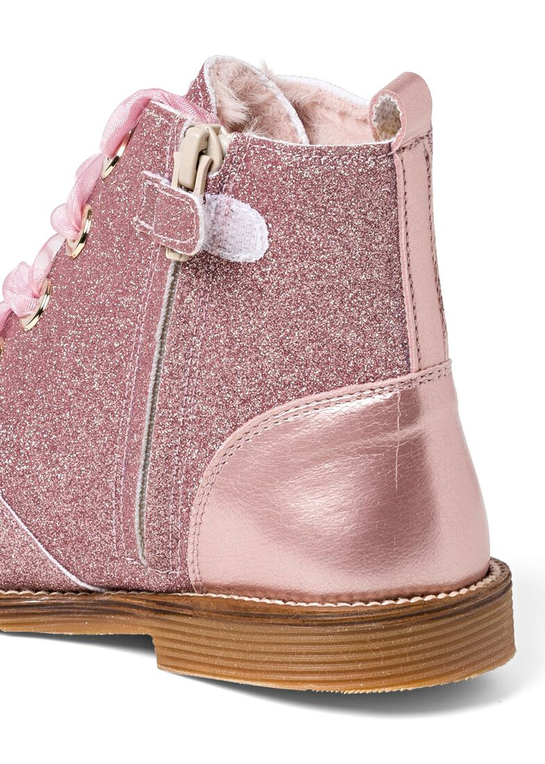 Wool Lines Glitter Boot, Rosa, large image number 3