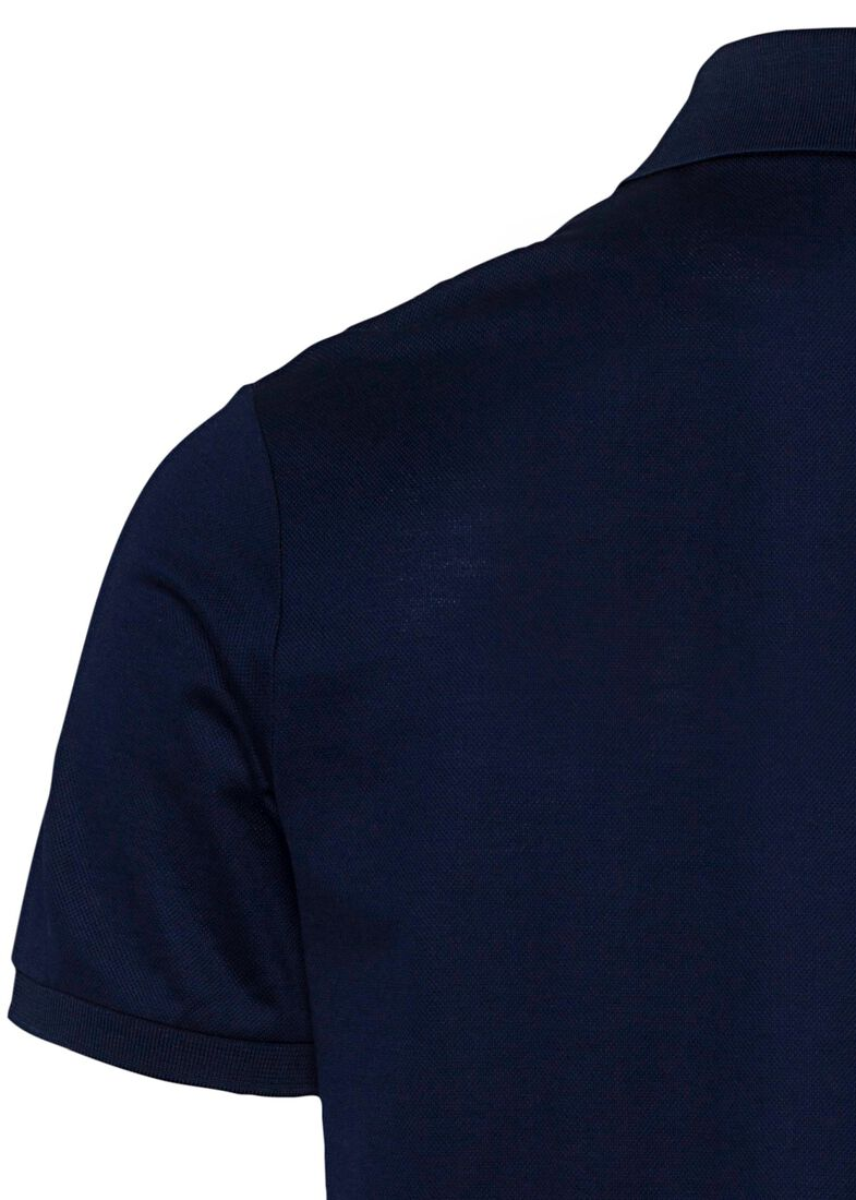 MEN'S KNITTED POLO SHIRT C.W. COTTON, Blau, large image number 3