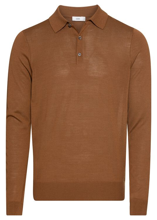 long sleeve polo image number 0
