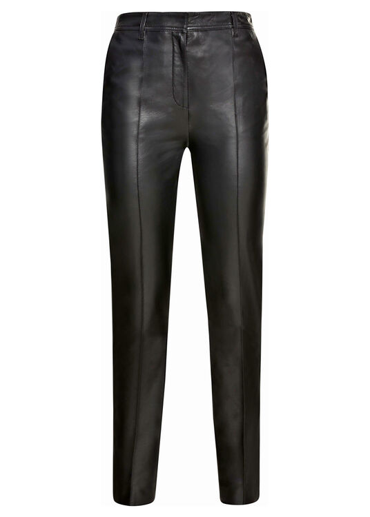 STRAIGHT LEG LEATHER TROUSER image number 0