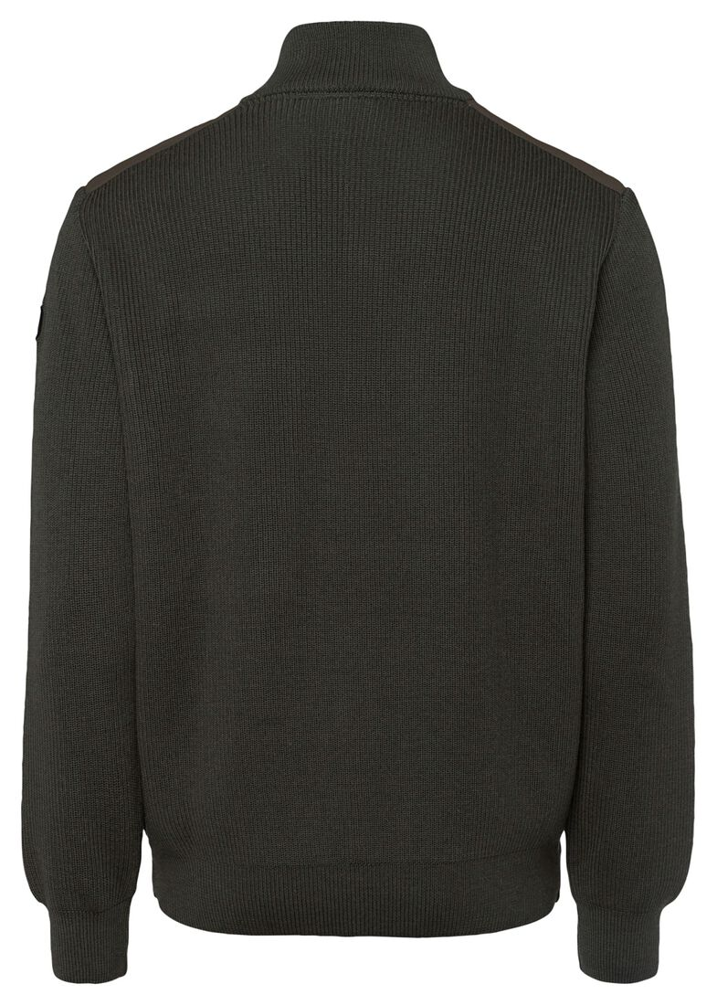 MEN'S KNITTED SWEATER C.W.WOOL, Grün, large image number 1
