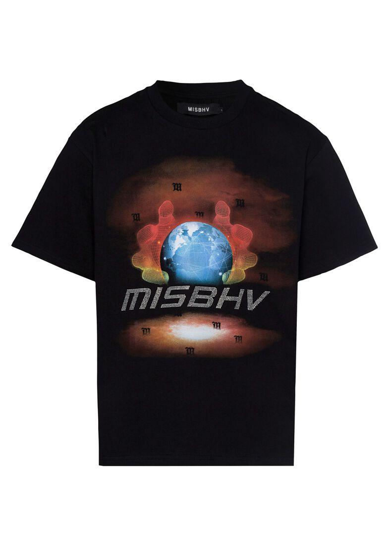 GLOBE CRYSTALS T-SHIRT, Schwarz, large image number 0