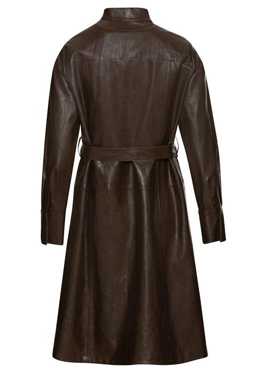 Mantelkleid in Lederoptik image number 1