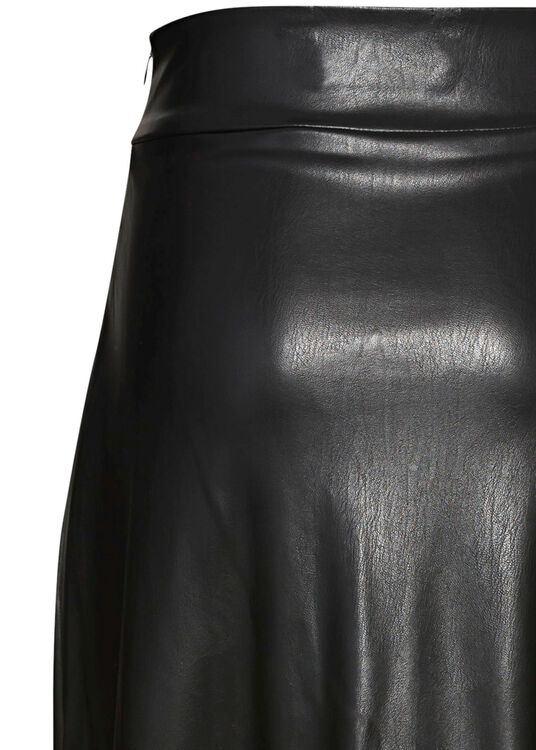 HIGH WAIST SKIRT WITH VOLANTS, Schwarz, large image number 3