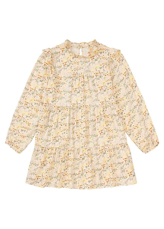 Pebble Flower LS Dress, Beige, large image number 0
