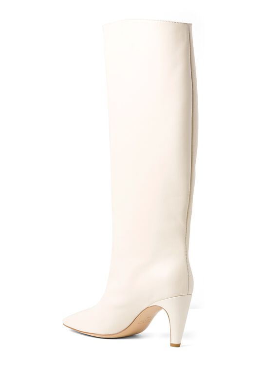 80MM Cream knee high boot in Leather image number 2