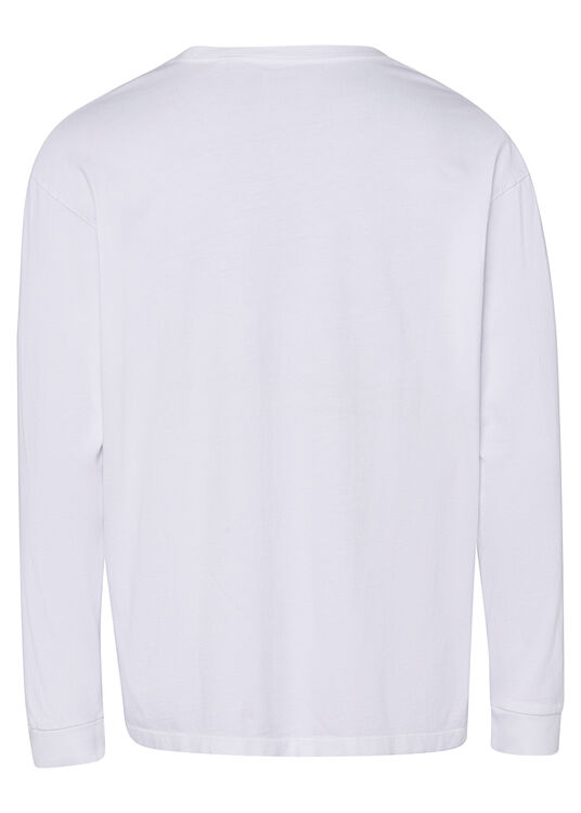 LS RED TAB TEE WHITE + image number 1
