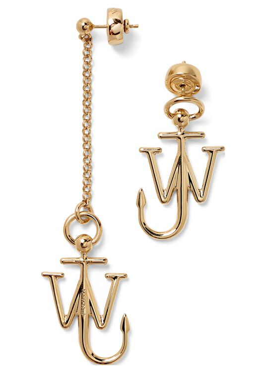 ASYMMETRIC ANCHOR EARRINGS image number 0