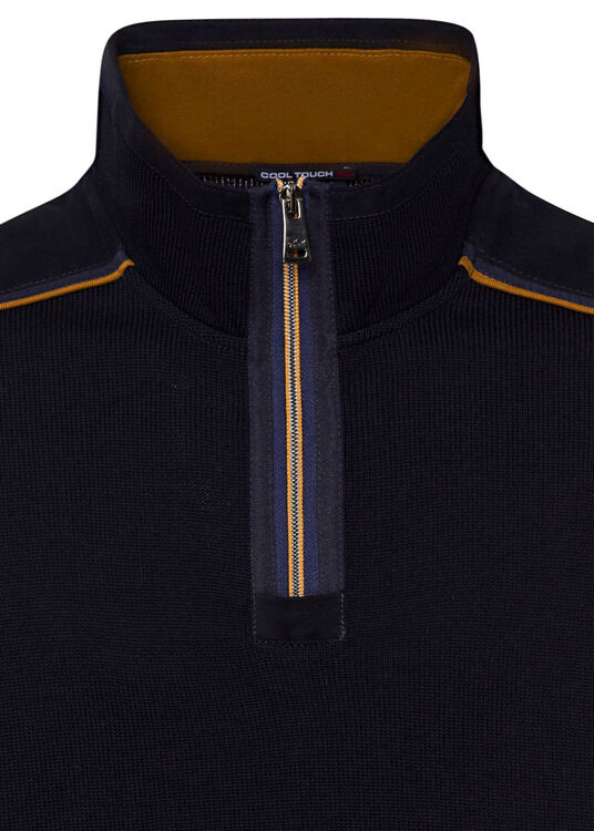 MEN'S ZIPPED PULLOVER C.W. WOOL image number 2