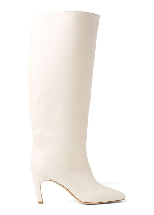 80MM Cream knee high boot in Leather image number 0
