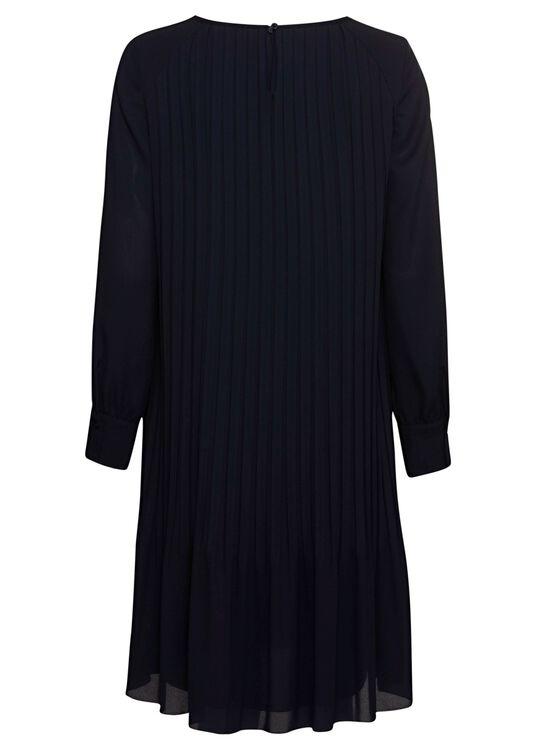 Langarm-Plissee-Kleid image number 1