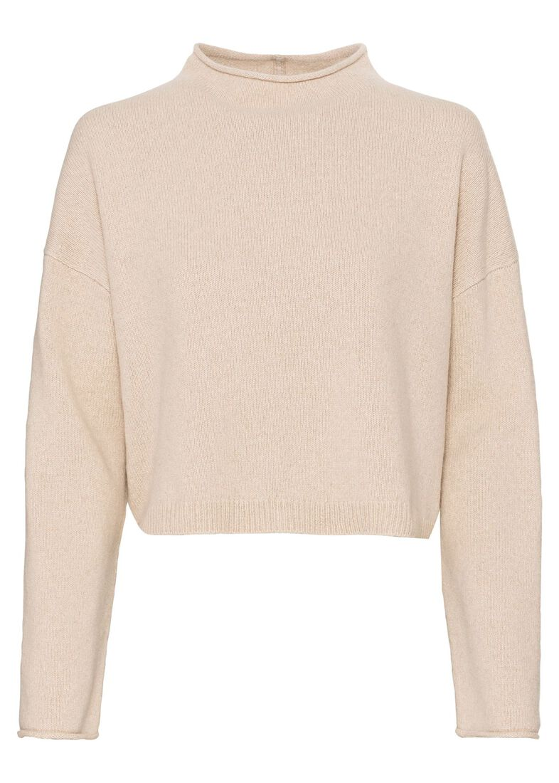 CAMERON BOXY CRP ROLLNECK SWTR, Beige, large image number 0