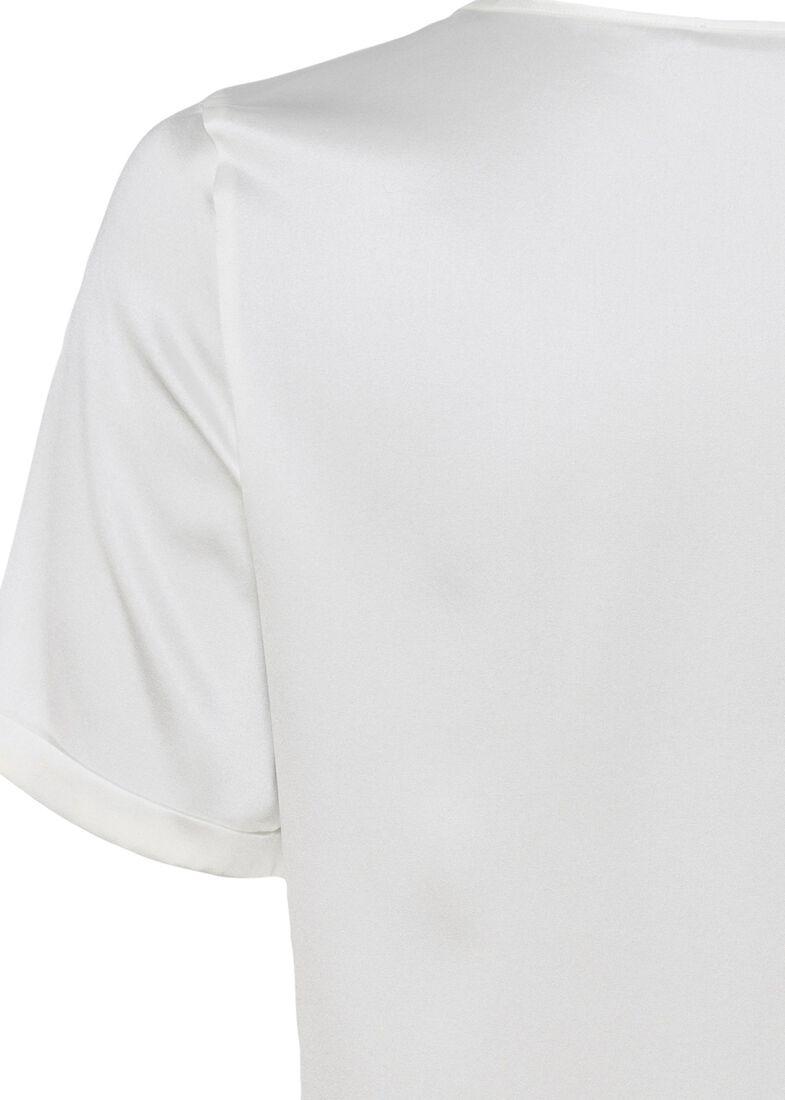 (S)NOS Satinsilk Shirt, Weiß, large image number 3