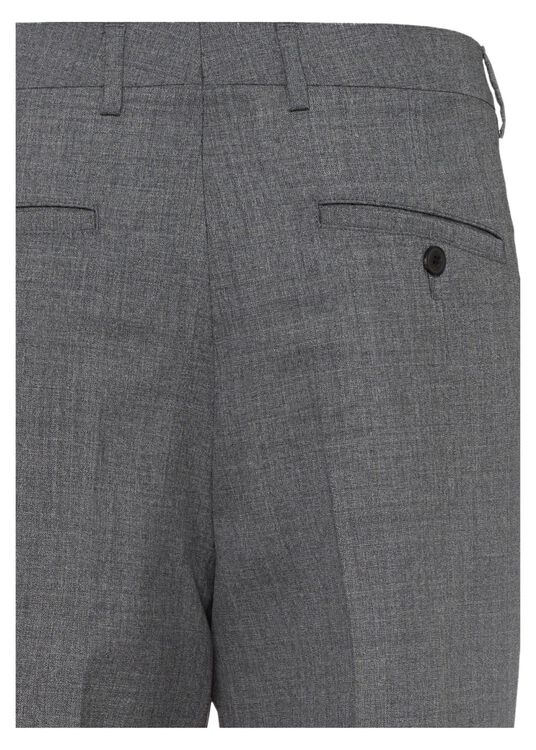 MEN PLEATED CARROT FIT TROUSERS image number 1