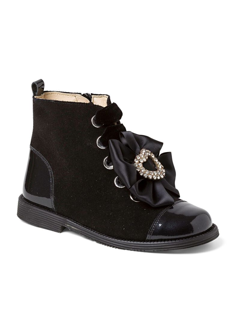 Bow w hearts Boot, Schwarz, large image number 1