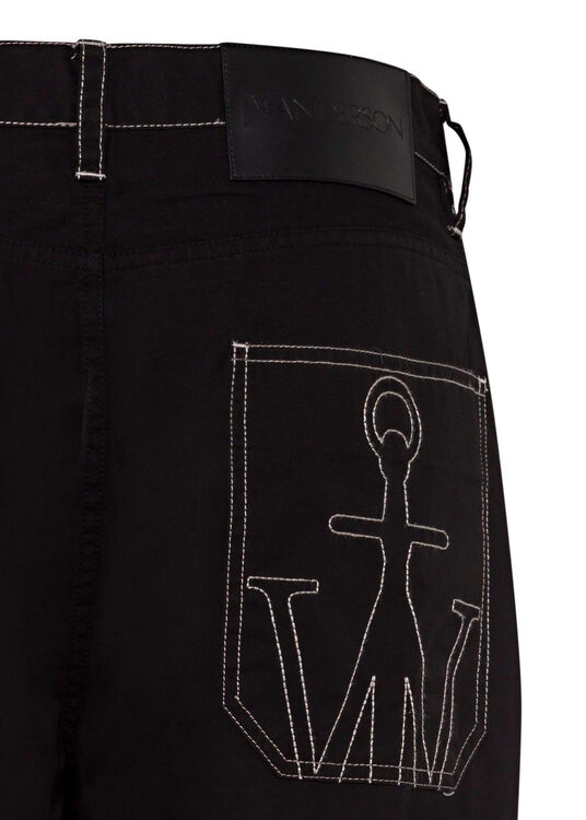 CROPPED PATCHWORK FATIGUE TROUSERS image number 3