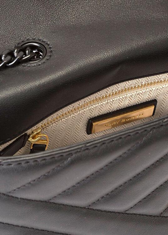 KIRA CHEVRON POWDER COATED SMALL CONVERTIBLE SHOULDER BAG image number 3