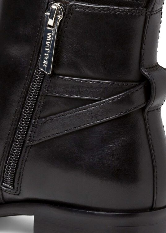 8_Victor Flat Ankle Boot Buckle Calf, , large image number 3