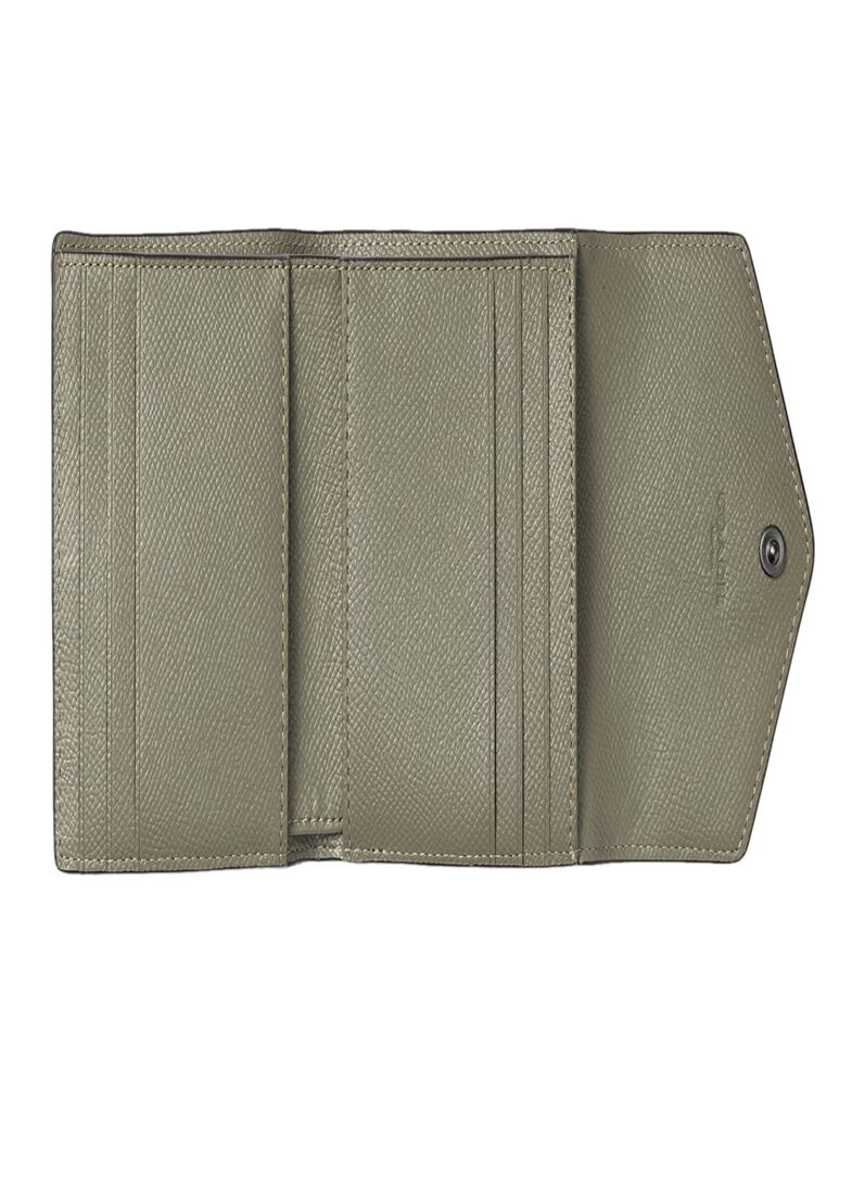 crossgrain leather small wallet, Grün, large image number 3