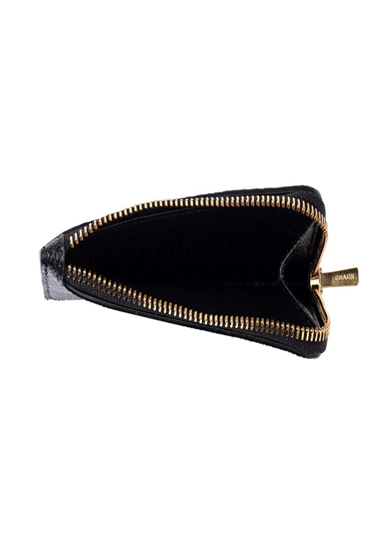 small l zip card case, Schwarz, large image number 3