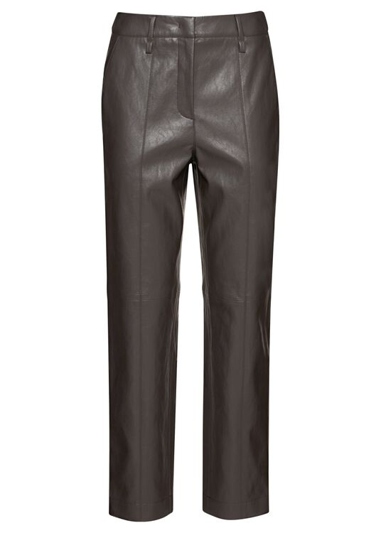 Tapered Pants in Leder-Optik image number 0